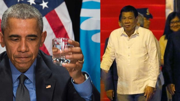 """Philippines president calls Obama """"son of a whore"""", threatens to beat US president"""