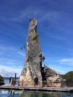 Batu Pensil Raja Ampat