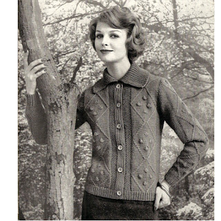 Moss Stitch Knitted Cardigan Pattern