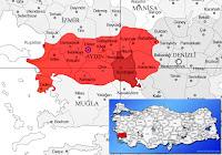 Bozdoğan ilçesinin nerede olduğunu gösteren harita