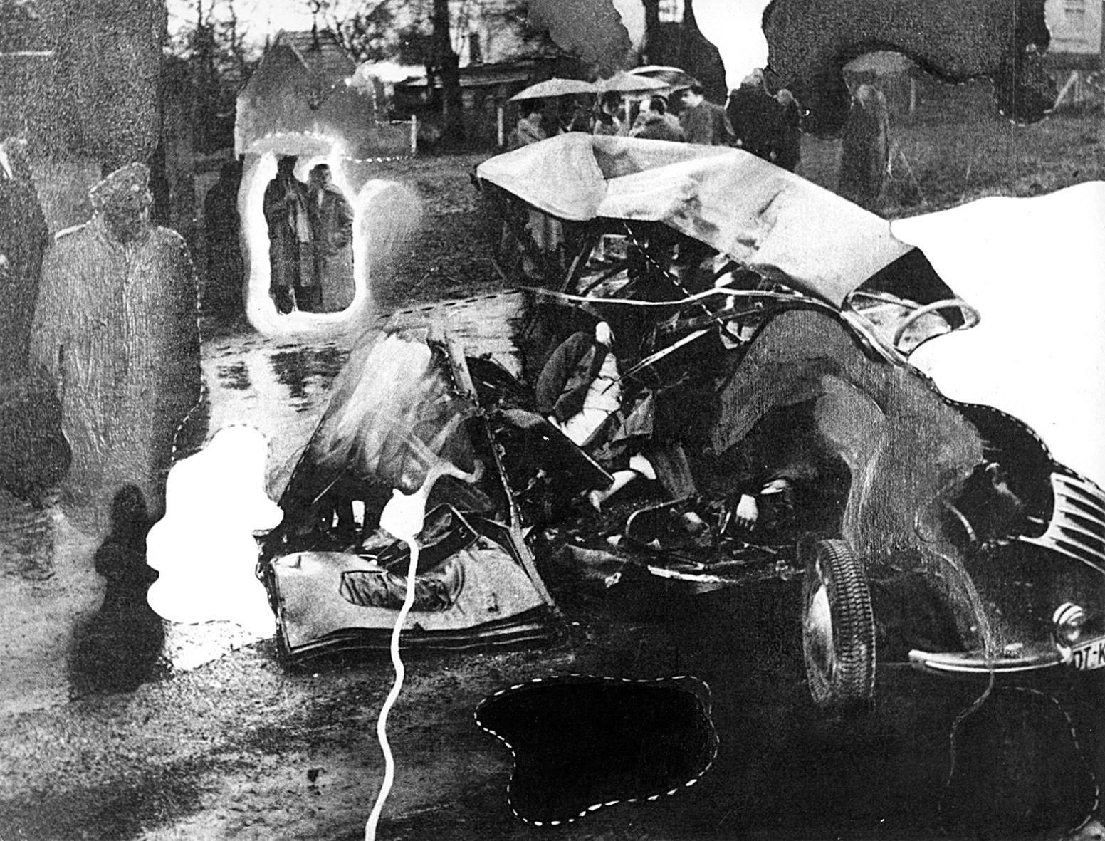 Bilder Von Wolf Vostell Auswahl Wolf Vostell Autounfall Ii 1965