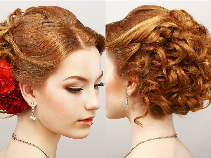 49 Elegant Prom Hairstyles  for Curly Hair Women Hairstylo