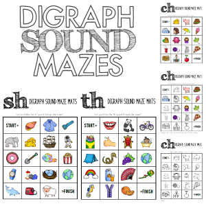 Letter Sounds - Digraphs - /ch/sh/th/ Over 50 pages of ready to print activities for the classroom or homeschool. Teaching ideas for use included for each activity. Great for Daily 5 Word Work or literacy centres | you clever monkey