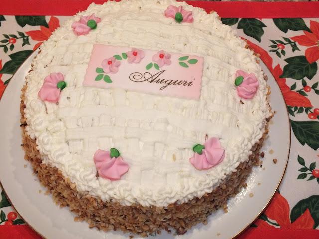 Panna Cioccolato E Fantasia Torta Di Compleanno Farcita Con