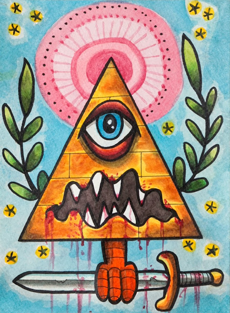 "© Lon Bennett 2017 All Rights Reserved. - Mixed Media Series - 03 ""All Seeing Eye"""