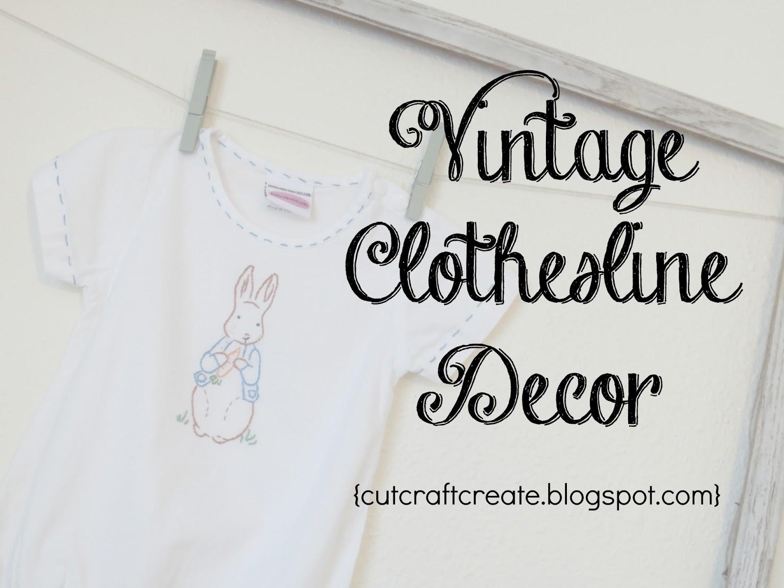 Cut Craft Create Decorating Tip 5 Vintage Clothesline Frame