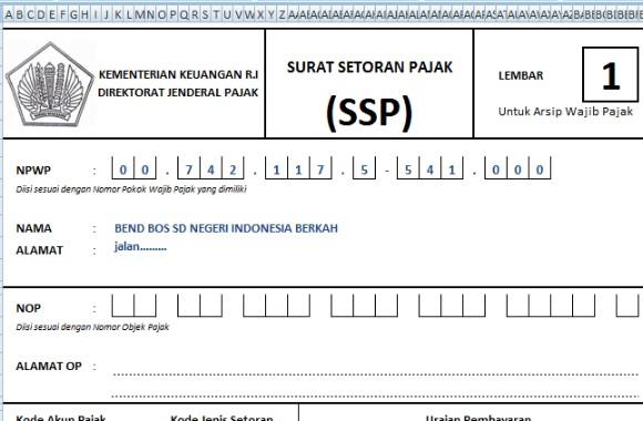 Download Aplikasi SSP Pajak Untuk Pelaporan BOS