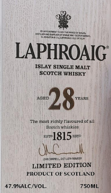Laphroaig 28-Year Islay Single Malt Scotch Whiskey Limited Edition