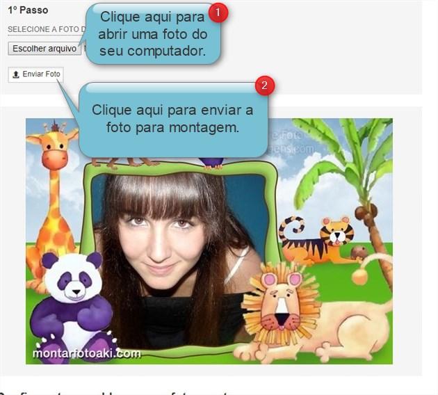 Enviar foto para fazer montagem de criança