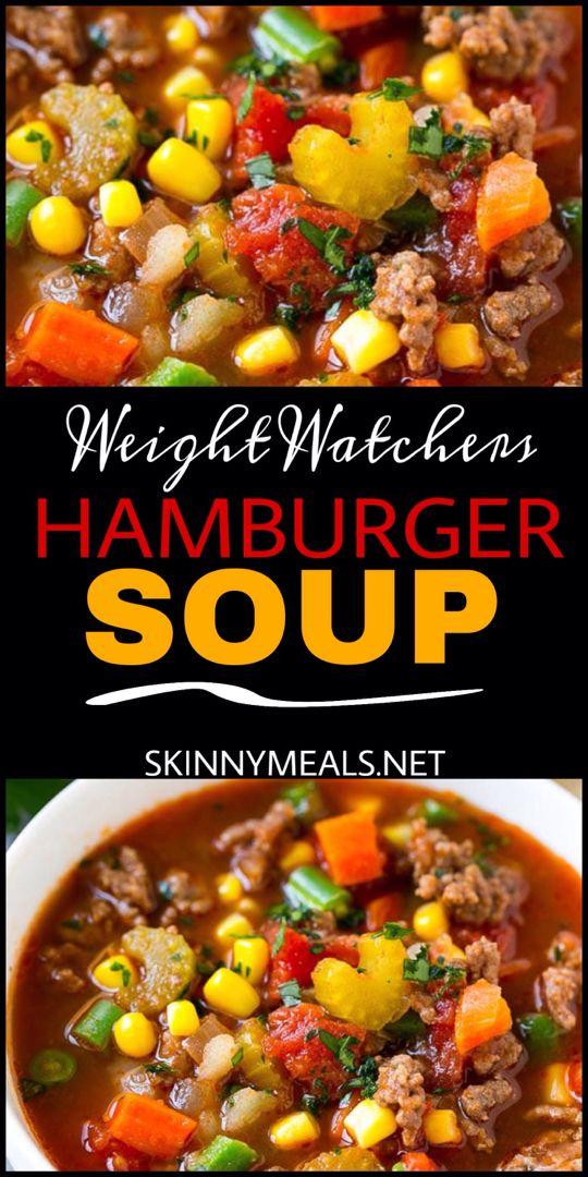 Weight Wathchers Hamburger Soup