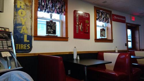 retro cafe decor
