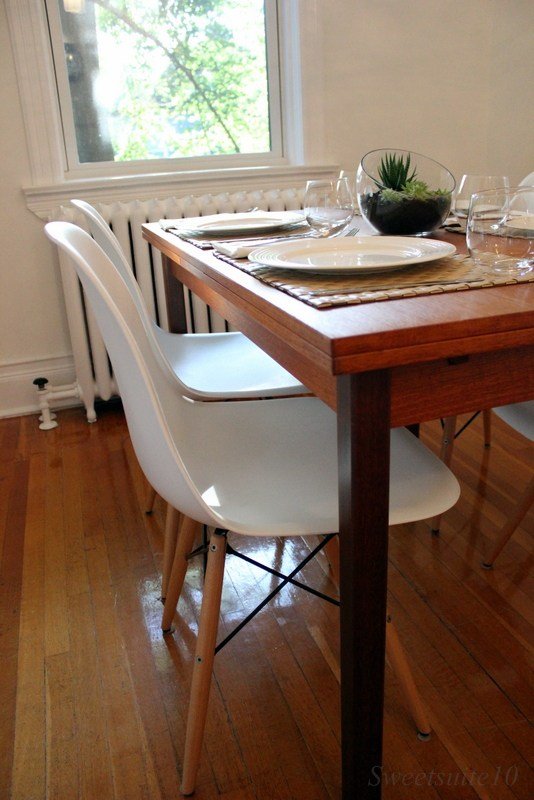 Modern Eames-style dining chairs