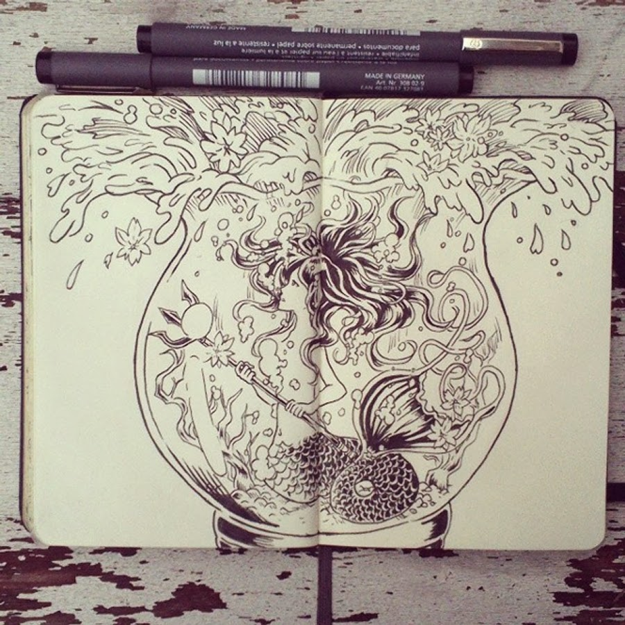 04-#13-I-want-to-see-the-sea-365-Days-of-Doodles-Gabriel-Picolo-www-designstack-co