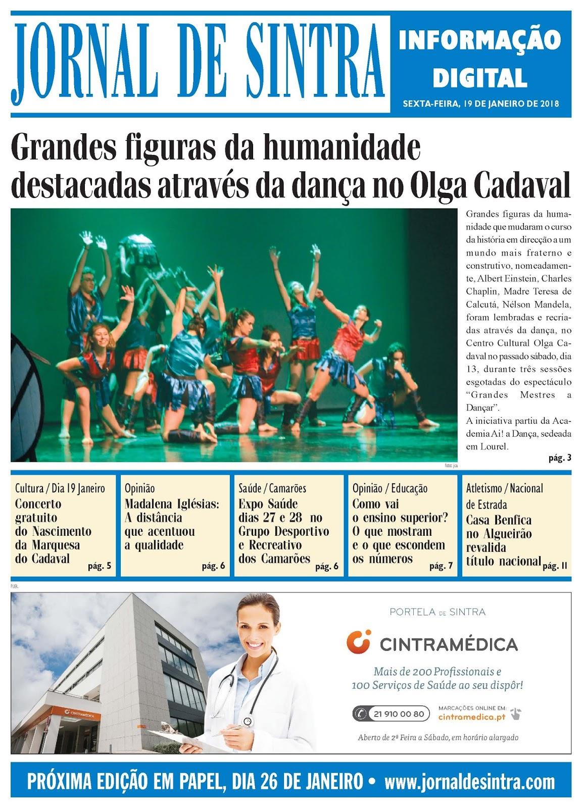 Capa da edição de 19-01-2018