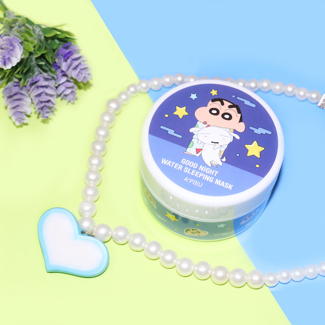 A'PIEU Good Night Water Sleeping Mask Crayon Shinchan Edition Review