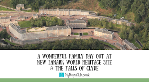 A Wonderful Family Day Out at New Lanark World Heritage Site & The Falls of Clyde (AD)