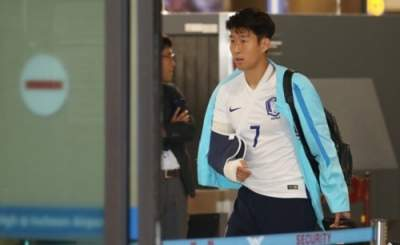 Son-Heung-min-leaves-hospital
