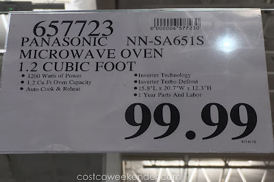 Deal for the Panasonic NN-SA651S Stainless Steel Microwave Oven at Costco