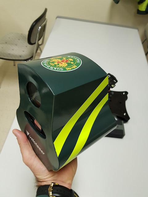 Primer plano del nuevo radar Velolaser visto de lado