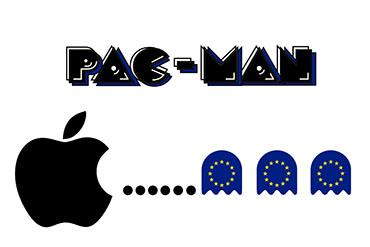 el villano arrinconado, humor, chistes, reir, satira, Apple. Pac-Man