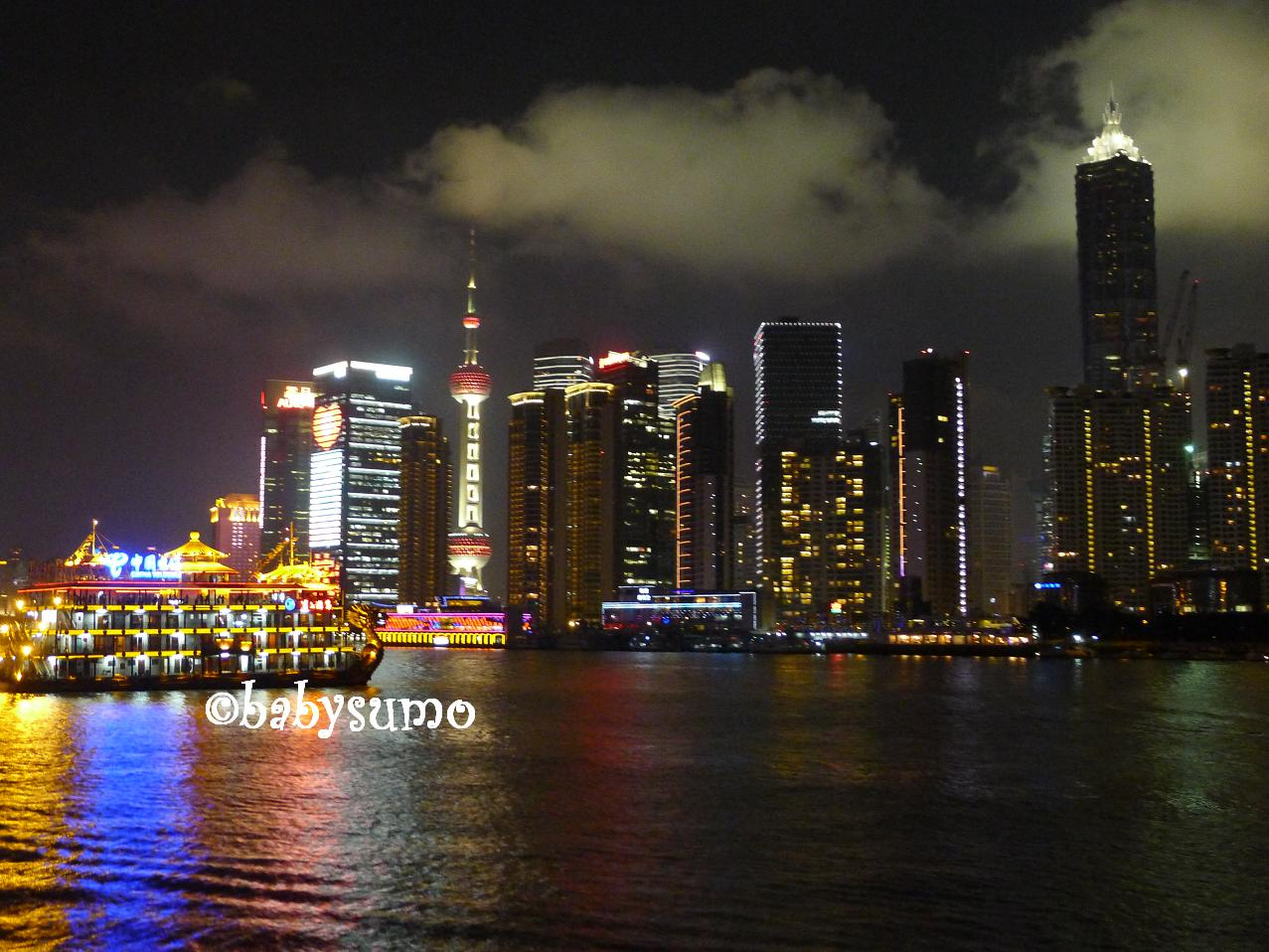 Baby Sumo Photography Night View Of Pudong From Huangpu