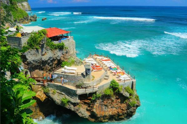 Gambar, Foto Keren Pantai Suluban (blue point beach)