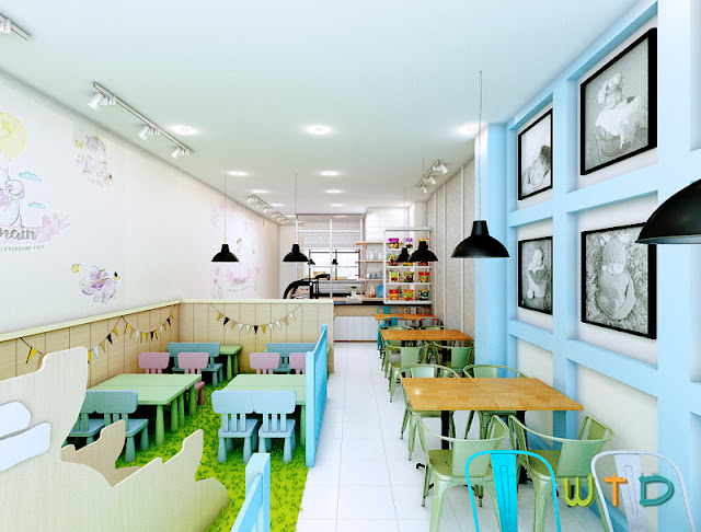 Desain Interior Moms & Kids Playground Cafe