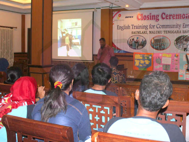 Polikarpus Lalamafu Puji Program Pelatihan Bahasa Inggris Inpex
