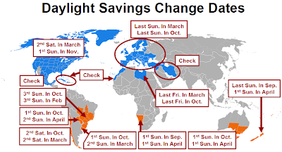 Image result for daylight savings worldwide