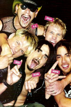 Foto de Backstreet Boys haciendo muecas