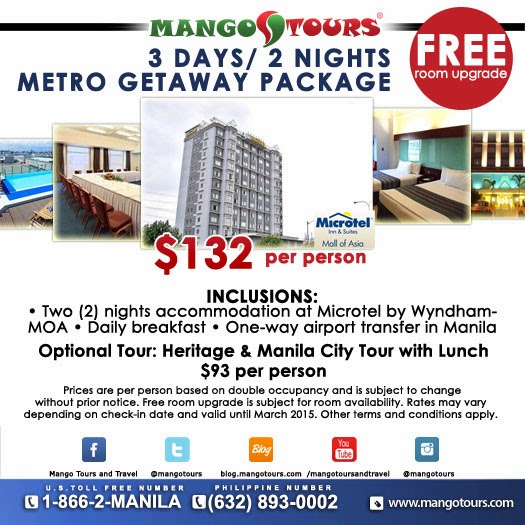 Mango Tours Microtel by Wyndham Mall of Asia Metro Getaway Package