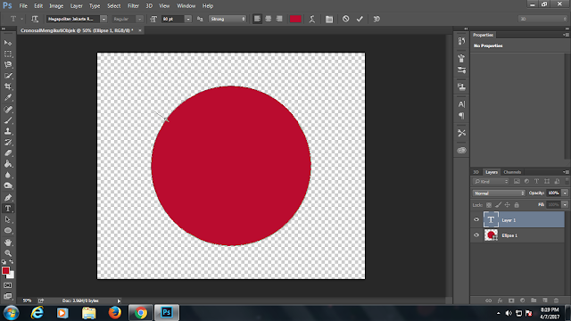 photoshop ,teks mengikuti objek ,shapes ,new shapes ,type tool