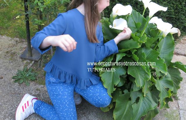 tutoriales de costuras blusa para niña