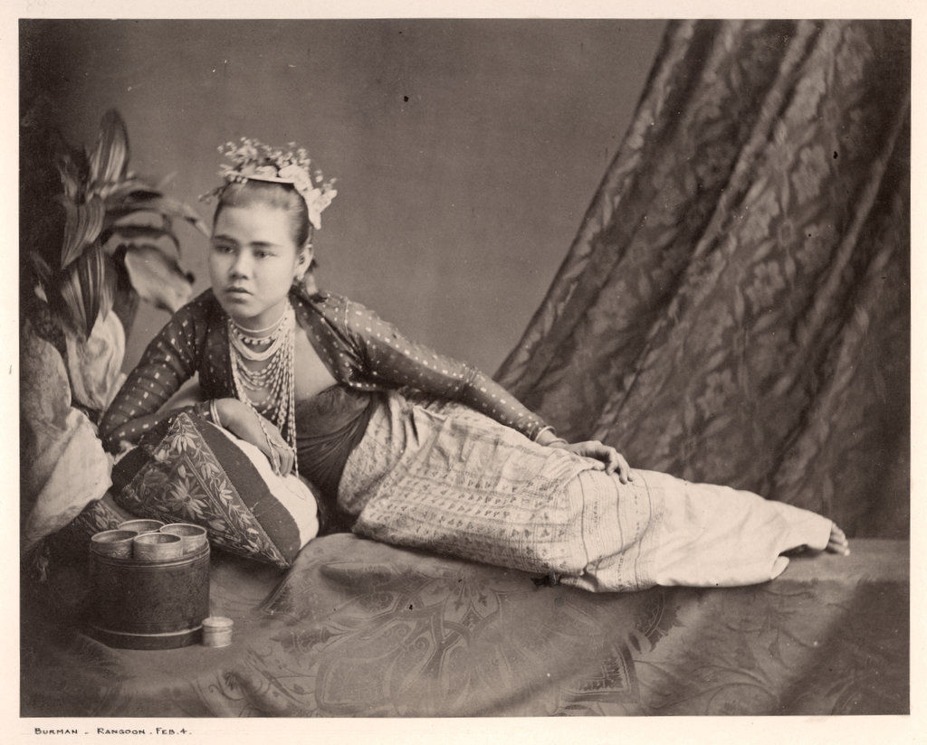 Portrait of a Lady - Rangoon, Burma (Myanmar) c1870's