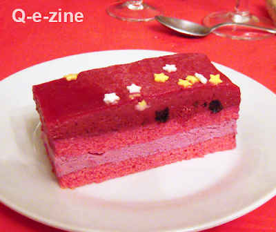 bûche fruits rouges cassis