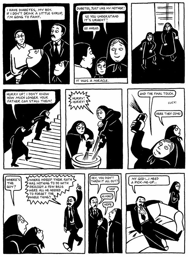 Read Chapter 14 - The Wine, page 108, from Marjane Satrapi's Persepolis 1 - The Story of a Childhood