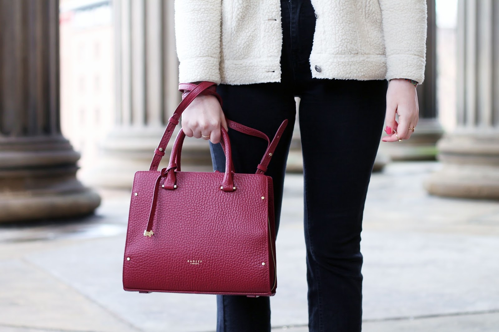 real vs faux leather debate: radley bow lane bag