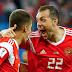 Rusia derrotó 3-1 a Egipto