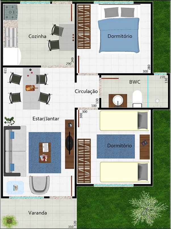 modelo casa aconchegante