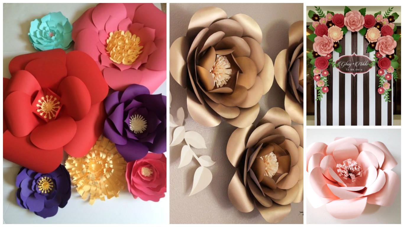 Moldes Y Tutorial Para Aprender Como Hacer Flores Gigantes