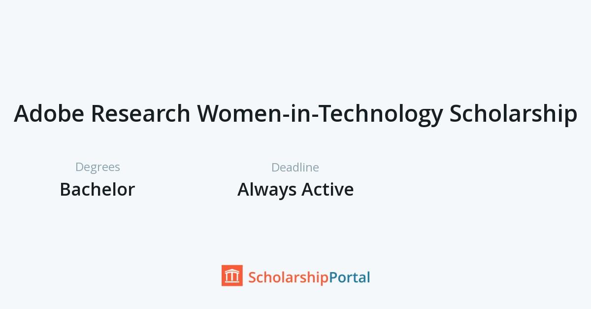 Adobe Research Women-in-Technology Scholarship