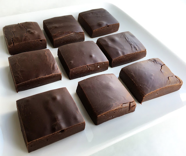 Plate with Pieces of Fudge