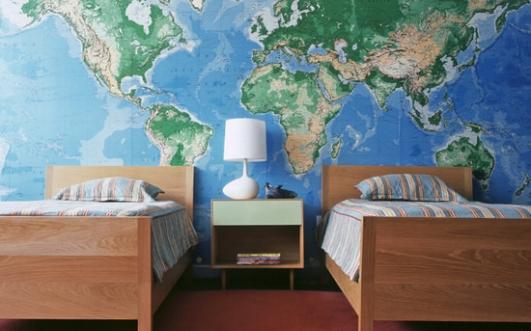 Tapet världskarta barn fototapet barnrum