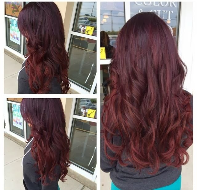 Brunette red hair color ideas hair color highlighting and purple violet red ombre hair urmus Images