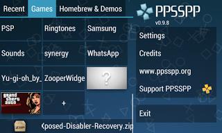 cara setting emulator PS2 / PSP 8