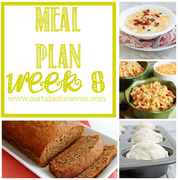 Meal Plan: Week 8