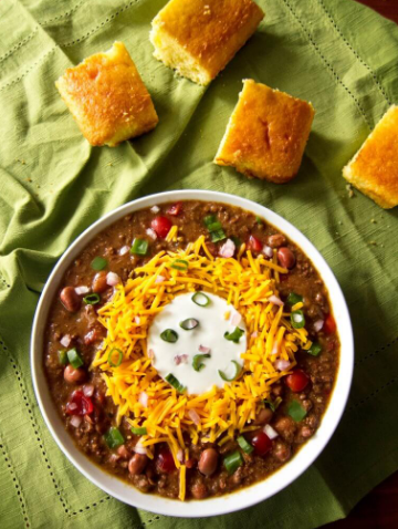 Homemade Instant Pot Chili (with dried beans)