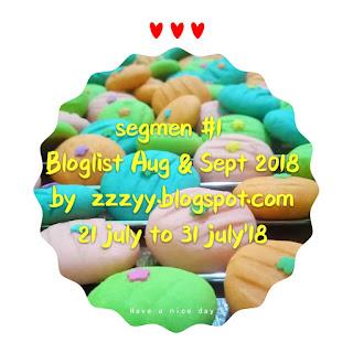 Segmen bloglist Aug & Sept by zzzyy.blogspot.com, blogger segmen, segmen bloglist, blog, blogger, 2018,
