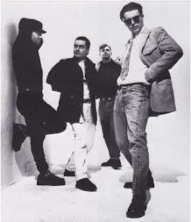 Fotografía en blanco y negro de Madness en 1988
