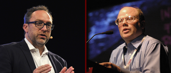 Jimmy Wales and Larry Sanger